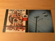 """ERIC CHURCH Heart Like A Wheel + Mistress Names Music 7"""" Record Lot SEALED OOP"""