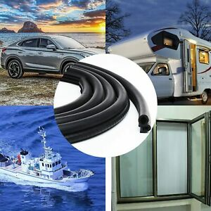 10FT U Shape Trim Seal Strip with Side PVC Bulb for Car Boat Truck RVs and Home