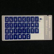 Husqvarna Viking Designer II 2 Stitch d-Card N1 Decorative Sewing Stitches -Blue