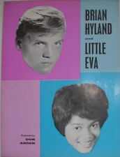 1963 BRIAN HYLAND & LITTLE EVA UK TOUR SHOW PROGRAMME WITH B/W ILLUSTRATIONS