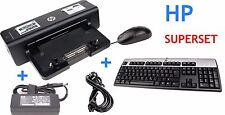 HP Docking Station HSTNN-I11X + HP 90W Netzteil + HP Tastatur + HP Maus USB