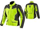 GIACCA MOTO REV'IT REVIT VOLTIAC HV GIALLO FLUO YELLOW NEON IMPERMEABILE TG S