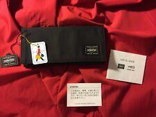 NEW w/TAG YOSHIDA & CO PORTER JAPAN BLACK SUPREME LONG CREDIT CARD FABRIC WALLET
