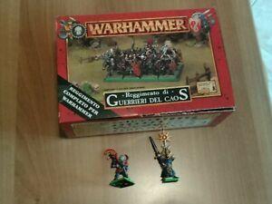 warhammer fantasy - reggimento di guerrieri del caos + 2 campioni
