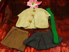 3piéces,cape jupes artisana   pour poupées  bella ,gégé raynal  des années 50-60