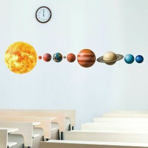 Wall Solar System Decal Sticker Planet Planets Decor 3d Room Art Vinyl Backgroun