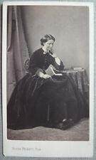 Photo Cdv Albuminé Femme Par Beckers Besançon Vers 1860