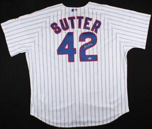 Bruce Sutter Signed Chicago Cubs Pinstripped Majestic Style Jersey (SGC COA) HOF