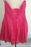 Zara pink strapless dress size s