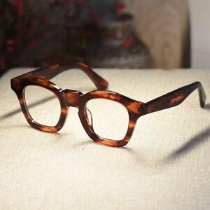 Vintage handmade Eyeglasses frame womens red tortoise acetate RX optical glasses