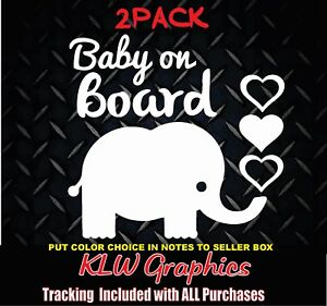 ELEPHANT BABY ON BOARD Car Sticker Funny Window Laptop Decal Vinyl Stickers Toys