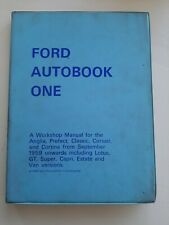 FORD AUTOBOOK ONE CLASSIC CAPRI CORTINA MK2 1600E  LOTUS OWNERS WORKSHOP MANUAL
