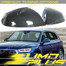 2x Carbon Fiber Mirror Cover Caps For Audi Q5 SQ5 Q7 SQ7 17+ With Side Assist