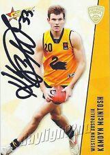 ✺Signed✺ 2012 RICHMOND TIGERS AFL Card KAMDYN MCINTOSH Future Force
