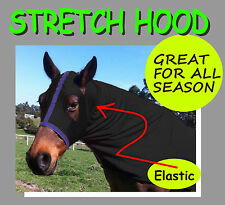 COMFORT STRETCH HORSE HOOD - 4 COLOURS, 4 SIZES FREE POSTAGE