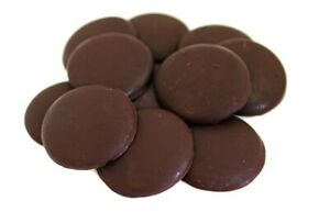 Dark Chocolate Buttons Belgian Organically Grown 72% Cocoa Fairly Traded Vegan
