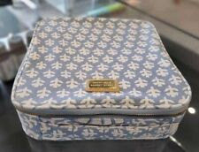 ESTEE LAUDER AERIN BLUELEAF CANVAS COSMETIC TRAVEL CASE BAG WITH HANDLE 9*9*2.5