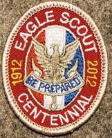 """Boy Scout Eagle Rank 1912-2012 Patch - Type 12 """"Centennial"""" BSA"""