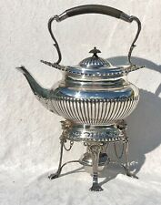 More details for v. fine quality william hutton silver plated spirit kettle excellent & complete