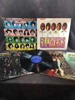ROLLING STONES 5 Vinyl LP Lot Some Girls Flowers Satanic Majesties Big Hits Live