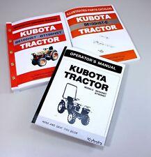 Kubota B6100hst E Tractor Service Parts Operators Manual Owners Catalog Book