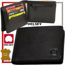DELSEY (best Leather) MEN'S WALLET (flat 1,5 cm) WALLET COIN PURSE NEW