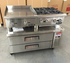 """Chef Base 48"""" Refrigerated Stand Equipment Table 2 Drawer Package With Griddle"""