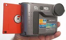 Sony Mavica MVC-FD73 Vintage Floppy Digital Camera VERY COOL TESTED WORKING FREE