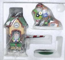 Dept 56 North Pole End Of The Line Nib Village Ticket Booth Set of 2 Pcs #56370