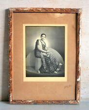 Old Vintage Rare Indian Woman Black & White Camera Photograph Collective Framed