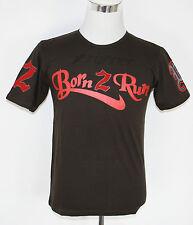 "Xrunner Estampado Camiseta ""Born 2 Correr ""Algodón Naranja, Azul Petróleo, Verde"