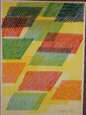 DORAZIO Piero - Lithographie litografia signée Un biologiste anxieux 1982 *