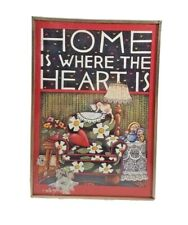 Mary Engelbreit Frame Picture Home Is Where the Heart Is Metal Print Stand