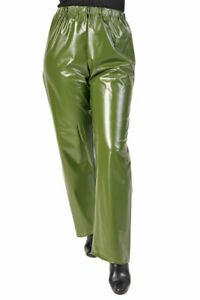 PVC Plastik Hose Regenhose Überhose TR07 GRS1 XXL Olivgrün Angeln Army Fahrrad