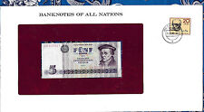 Banknotes of All Nations GDR East Germany 1975 5 Mark UNC P 27a IH017321
