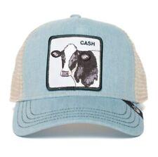 Goorin Animal Farm Trucker Baseball Hat Cash Cow Cap Blue Tan One Size