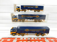 CG409-0,5# 3x Wiking H0/1:87 533 Sattelzug Scania ASG Spedition, sehr gut+2x OVP