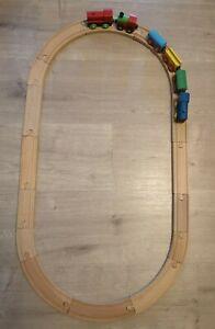 Wooden Train Track, Plush Along Trains Compatible With Brio, Bigjigs, ELC, IKEA