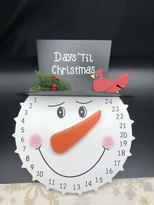 Myco Countdown to Christmas Snowman Calendar NEW Holiday Kids Days Until Xmas