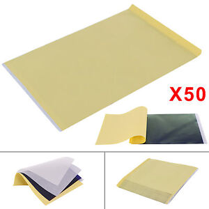 50 Sheets Tattoo Thermal Carbon/Copy Stencil Transfer Paper Tracing Kit A4