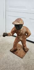 Old Vintage Heavy Cast Iron Lawn Jockey