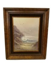 Signed C Charleston Afternoon Glow Oil Painting