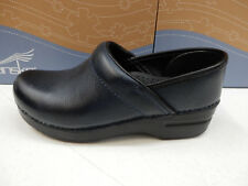 DANSKO WOMENS CLOGS PROFESSIONAL NAVY BURNISHED NUBUCK SIZE EU 37