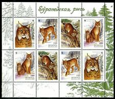 332 - Belarus 2000 - WWF - Lynx - MNH Mini Sheet