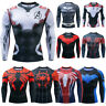 Avengers Superhero T-shirt Long Sleeve Compression Sport 3D Men Fitness Tee Tops