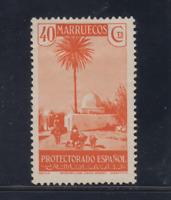 MARRUECOS (1935/37) NUEVO CON FIJASELLOS MLH SPAIN - EDIFIL 155 (40 cts)
