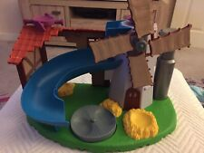 Weebles Spinning Windmill Farmhouse With Slide Excellent Condition