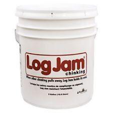 Sashco Log Jam Log Home Chinking 5 Gallon Pail - White White