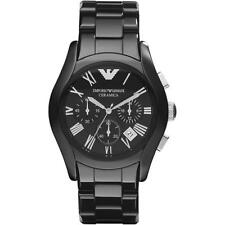 New EMPORIO ARMANI ar1400 Mens Black Ceramica Watch - 2 years warranty