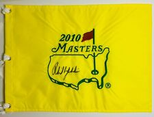 PHIL MICKELSON SIGNED AUTOGRAPH 2010 MASTERS FLAG COA PROOF WINNER GOLF AUTO